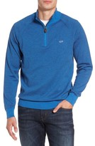 Vineyard Vines Men's Fine Stripe Quarter Zip Sweater