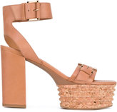 Vic Matié 'Belize' cork platform sandals - women - Leather/rubber - 37