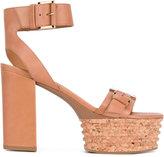 Vic Matié 'Belize' cork platform sandals - women - Leather/rubber - 39