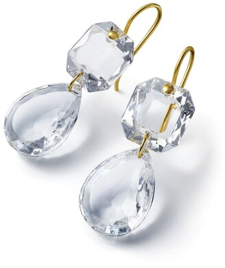 Baccarat Yellow Gold and Crystal Drops of Colour Earrings