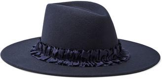 Eugenia Kim Harlowe Ruffled Grosgrain-trimmed Wool-felt Fedora