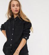 New Look Tall boxy denim shirt in black