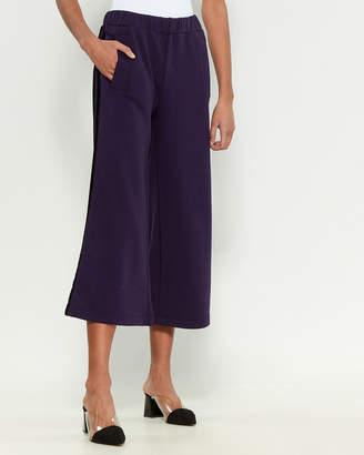 P.A.R.O.S.H. Side Stripe Wide Leg Crop Pants