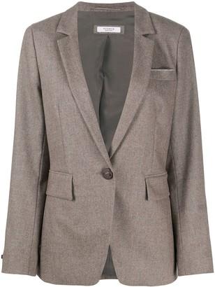 Peserico One-Button Blazer