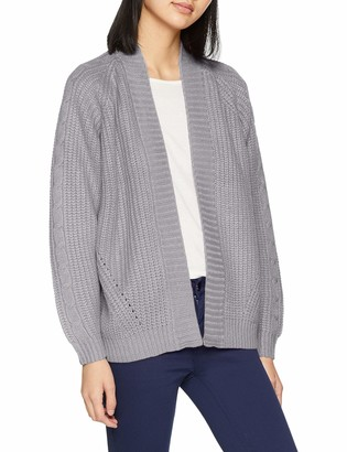 Dorothy Perkins Women's Grey Chunky Cable Cardigan (Size:22)