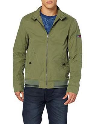 Tommy Jeans Men's Basic Harrington Crew Neck Jacket,Medium