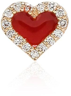 Alison Lou Heart Motif Stud Earring