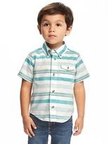 Old Navy Striped Pocket Shirt for Toddler Boys