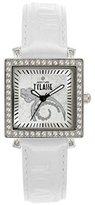 Alviero Martini Prima Classe Women's PCD 959S/BM Polished Stainless Steel Link Bracelet Swarovski Stones Watch
