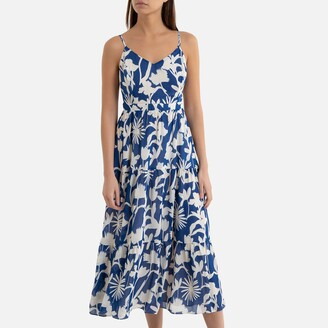 Garance Paris Danzy Printed Strappy Dress