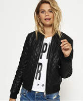 Superdry Parisian Quilted Faux Leather Bomber