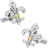 Ox & Bull Trading Co. Men's Stainless Steel Two-Tone Fleur De Lis Cufflinks