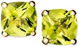 Macy's 14k Gold Earrings, Peridot Cushion Studs (2 ct. t.w.)