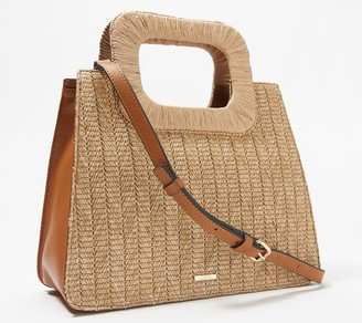 Vince Camuto Square Handle Textured Satchel - Kenni