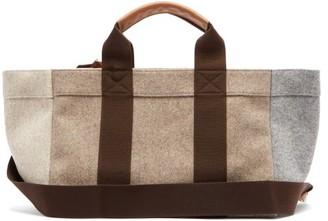 Rue De Verneuil - Parcours Medium Leather-trimmed Felt Tote Bag - Womens - Grey Multi