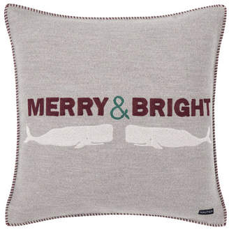 Nautica Merry And Bright Square Pillow Bedding