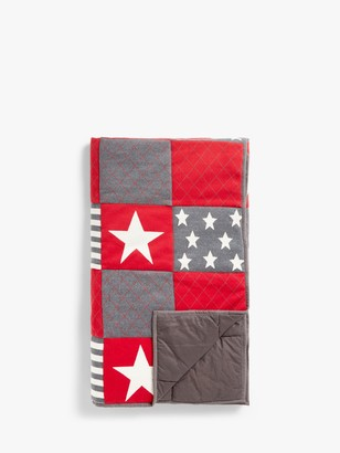 little home at John Lewis Patchwork Stars Quilted Bedspread, Multi