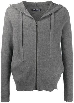Zadig & Voltaire Clash hooded zip-up cardigan