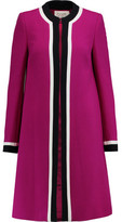 Goat Danube Paneled Wool-Crepe Coat
