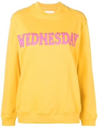 Alberta Ferretti Wednesday patch sweatshirt
