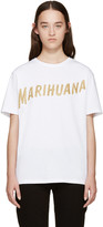 Palm Angels White Marihuana T-Shirt