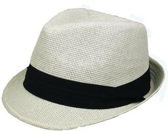 Pop Fashionwear Inc Vintage Sun Visor Straw Fedora 969SF
