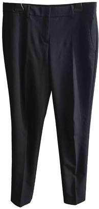 Theory Blue Wool Trousers