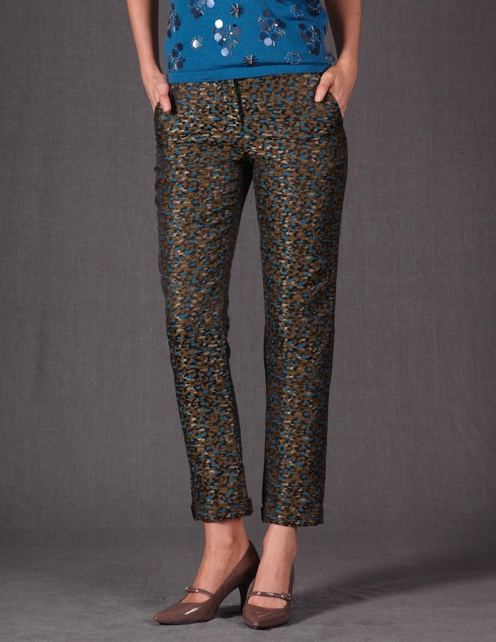 Boden Tapered Jacquard Crop