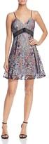 Aqua Embroidered Mesh Lace Cami Dress
