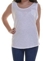 Style&Co. Style & Co. Womens Cotton Slub Tank Top White XL