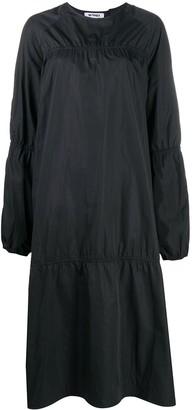 Sunnei Elastic Trim Long-Sleeved Dress