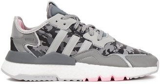 adidas Nite Jogger Printed Shell And Leather Sneakers