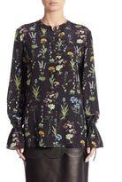 Altuzarra Christina Garden-Print Silk Blouse