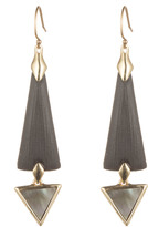 Alexis Bittar Elongated Dangling Earring with Mother of Pearl