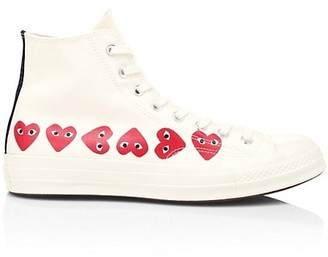Comme des Garcons Multi Heart High-Top Sneakers