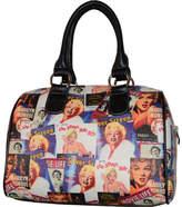Monroe Marilyn Forever Beautiful Collage Satchel Handbag MM612 (Women's)