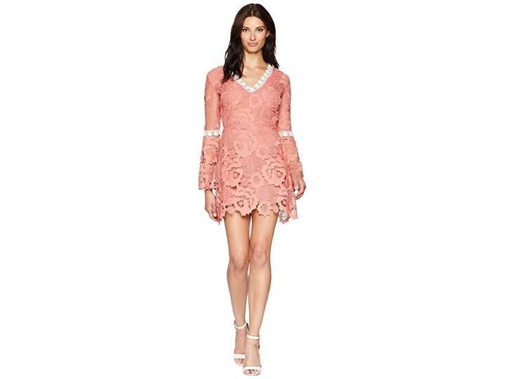 Alexia Admor Fit Flare Contrast Lace Dress Women's Dress