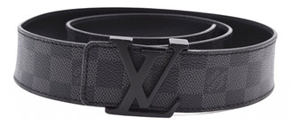Louis Vuitton Initiales Anthracite Cloth Belts