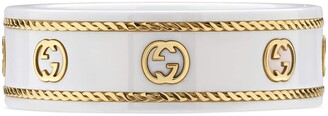 Gucci Icon ring with yellow gold InterlockingG
