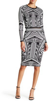 Wow Couture Printed Bodycon Pencil Skirt