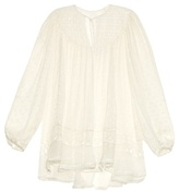 Zimmermann Belle Web Swiss-dot and lace silk top