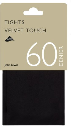 John Lewis & Partners 60 Denier Velvet Touch Opaque Tights