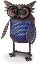 Gerson Solar Powered Light-Up Industrial Owl Garden Decor