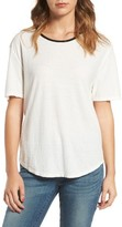 James Perse Women's Relaxed Ringer Tee