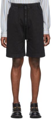 Gucci Black Denim Washed Oversized Shorts