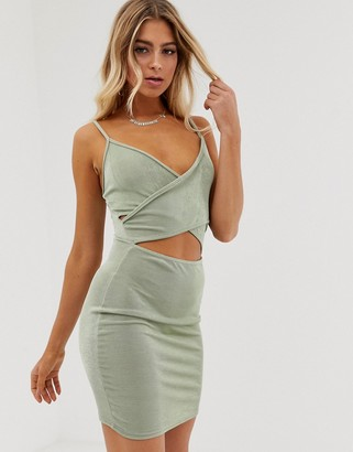 In The Style Slinky Cut Out Mini Dress