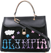 Olympia Le-Tan Griffin Embr Marguerite tote bag - women - Leather/PVC/Suede - One Size