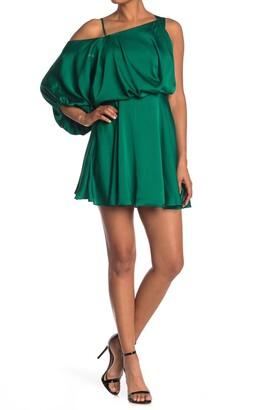 Do & Be Cold Shoulder Unbalanced Dress