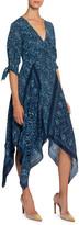 Altuzarra Floral-Print Silk Scarf-Skirt Dress