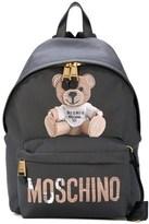 Moschino Women's Black Fabric Backpack.